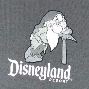 "Disneyland Resort Tops - 50% OFF SALE!     DISNEY DARK GREY TEE ""I'M GRUMP"""